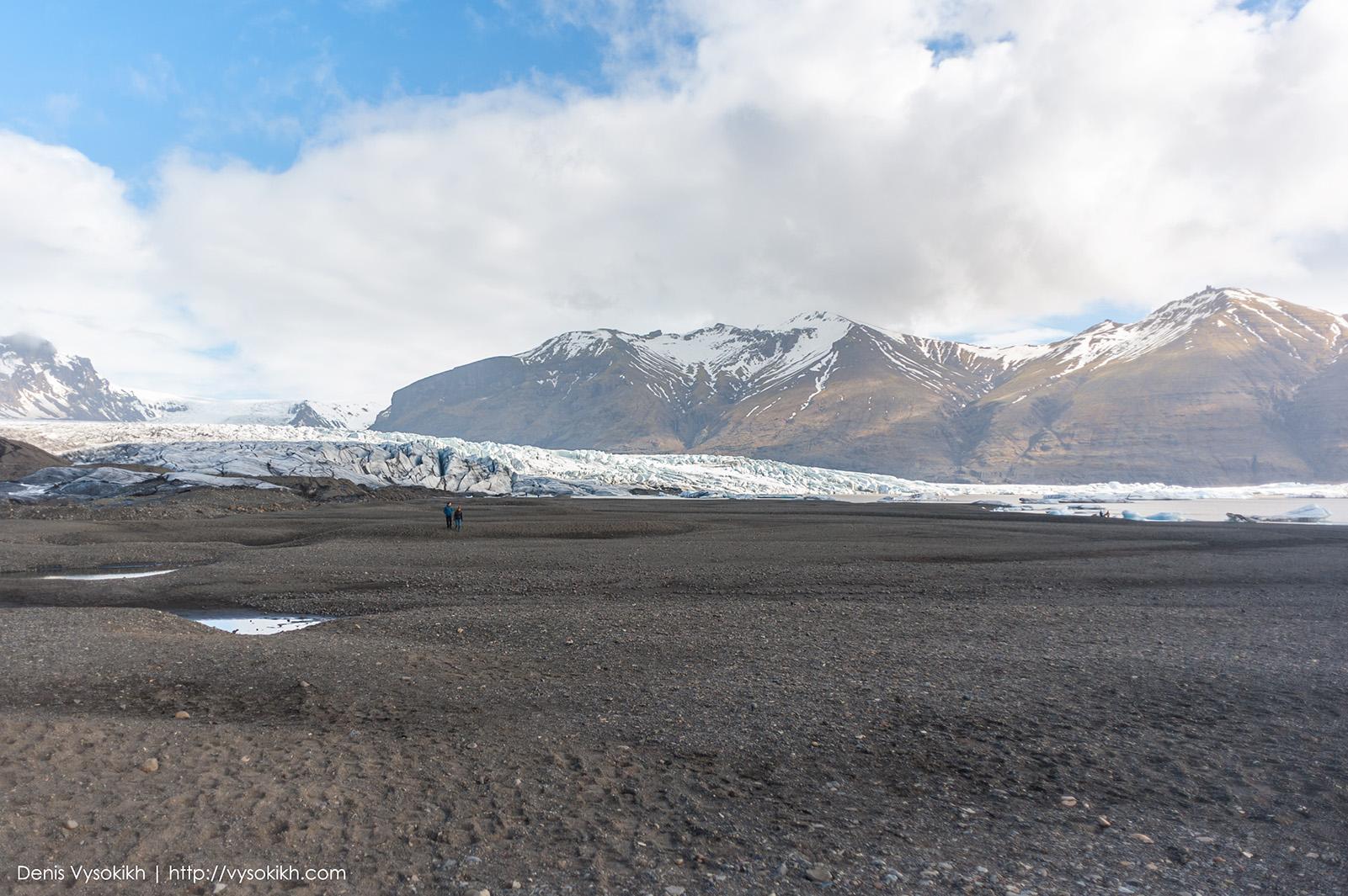 Ледник Skaftafellsjökull.