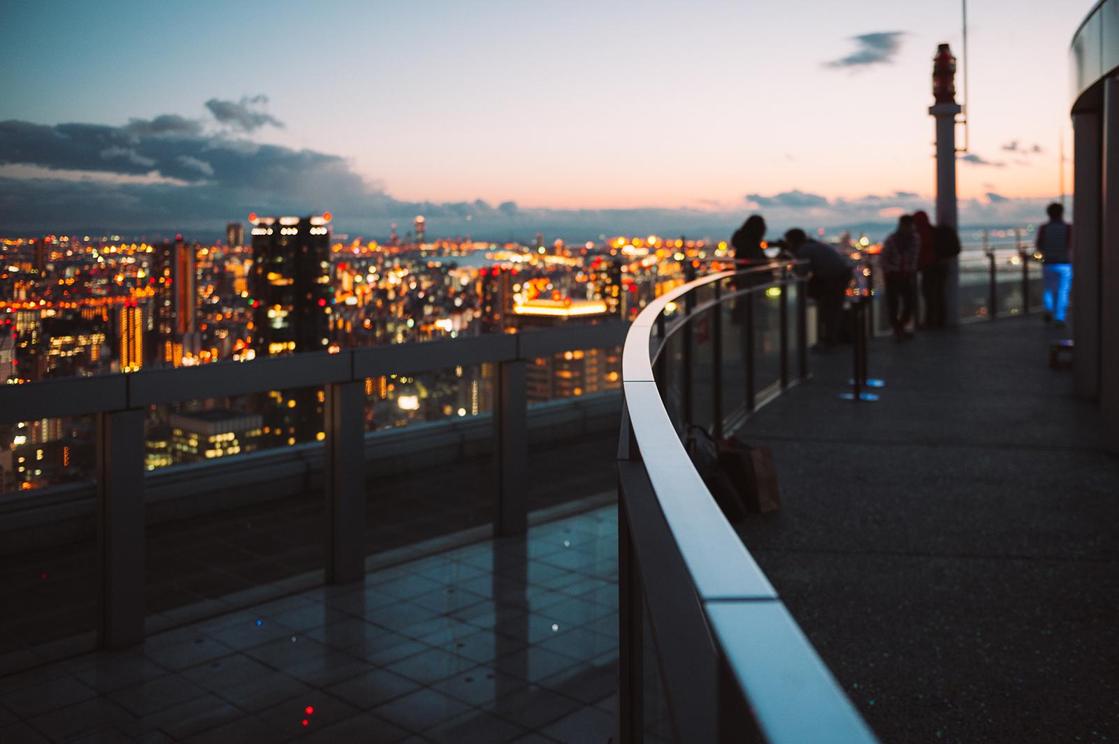 Вид с небоскреба Умеда Скай Билдинг